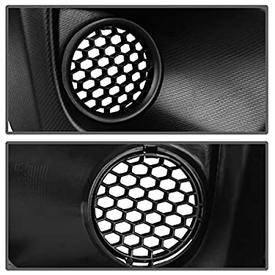 Fog Light Cover Front Bumper Compatible with 2012 2013 2014 Subaru Impreza, Pair Matte Black Foglight Covers W/Insert Grille Replacement, Right & Left Fog Lamp Bezel: Automotive