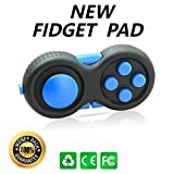 Fidget Pad - the 2nd Generation Fidget Hand Shank Toy with Gamepad Design Relieve Stress & Anxiety Best for ADD,ADHD,OCD,Anxiety Disorder,Autism Different Color£¨Blue£ Ganowo