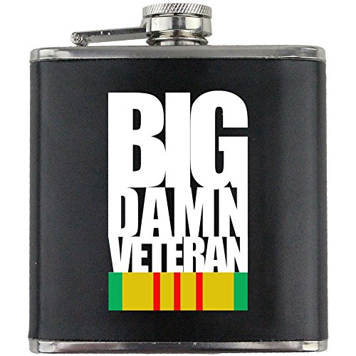 Big Damn Vietnam Veteran Leather Wrapped 6oz. Flask