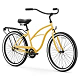 "sixthreezero Around The Block Women's Single Speed Beach Cruiser Bicycle, 26"" Wheels, Cream, 17""/One Size"