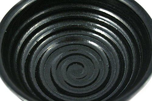 korium Shaving bowl Black Night - handmade ceramics