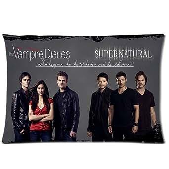 Washable Zippered Throw Pillow Covers : Amazon.com: Custom Supernatural The Vampire Diaries Pillowcase American Drama TV Series ...
