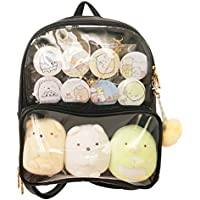 Patty Both Clear Backpack Transparent Ita Bag for Anime Lolita Bag DIY Cosplay Black Ita Bag