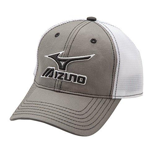 Mizuno 370211.9100.10.ONE Mesh Trucker Hat One-Size, Grey-White