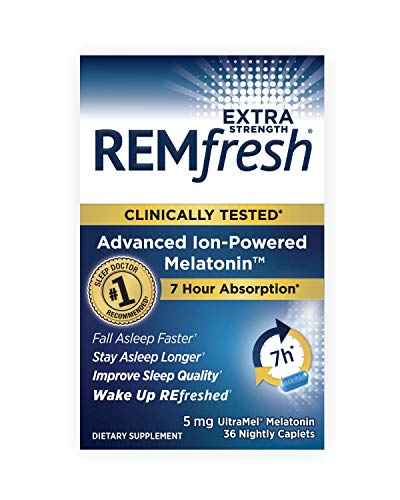 - REMfresh Extra Strength 5mg Melatonin - Advanced Sleep Formulation