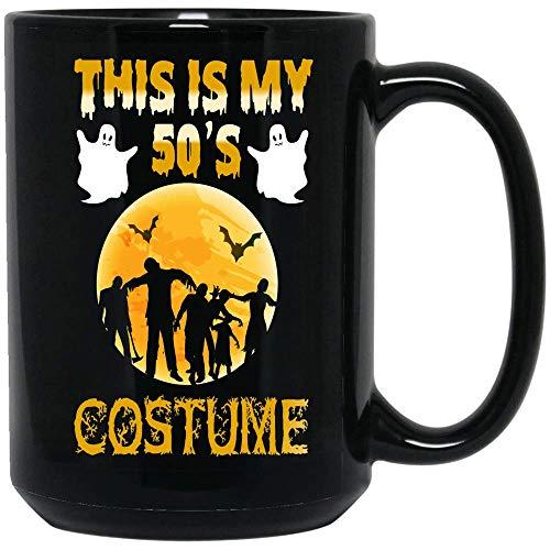 Coffee Mug This Is My '50s Halloween Costume Coffee Mug Halloween Gifts Ceramic (Black, 15 OZ)]()