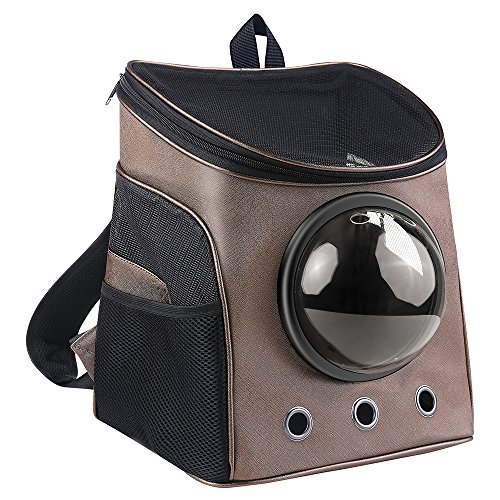lolhpby Creative Pet Carriers Backpack- Traveler Bubble Cat Backpack- Capsule Knapsack for Dogs and Petite Animals- Breathable Pets Carrier for Outdoors-Portable/Transparent Window by lolhpby
