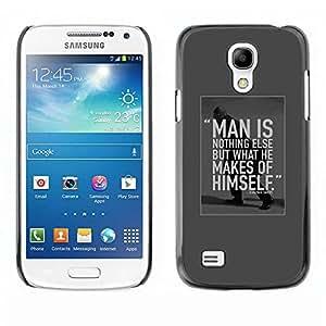 TopCaseStore / la caja del caucho duro de la cubierta de protección de la piel - Inspirational Motivational Student - Samsung Galaxy S4 Mini i9190 MINI VERSION!