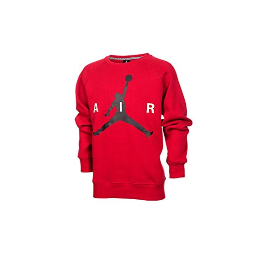 41ee337f1e1e3d Amazon.com  Jordan Big Boys  (8-20) Nike Jumpman Crew Sweatshirt-Black   Sports   Outdoors