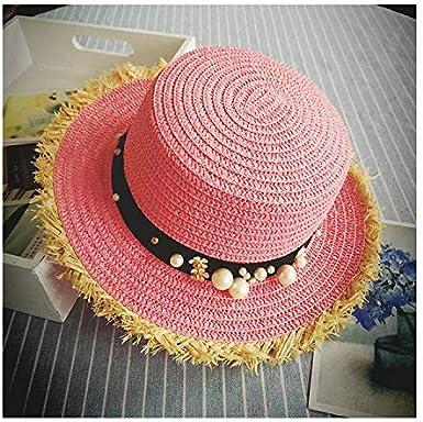 Womens Handmade Straw Beach Hat,Suma-ma Girls Summer Wide Brim Sunhat Bowknot Collapsible Fisherman Caps