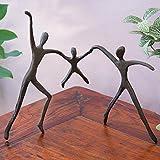 Bits and Pieces - Parents With Child Bronze Home Décor Statue - Decorative Bronze Sculpture