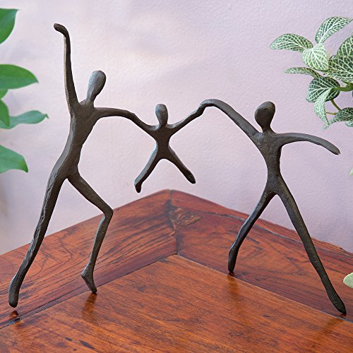 Bronze Sculptures Home Decor - Bits and Pieces - Parents With Child Bronze Home Décor Statue - Decorative Bronze Sculpture
