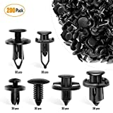 GOOACC Universal Plastic Fender Clips,200 Pcs Push Bumper Fastener Rivet Clips with 6 Size Auto Body Retainer Clips Bumpers,Car Fender Replacement for GM, Ford & Ch