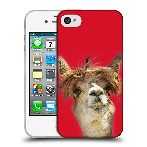 GoGoMobile Coque de Protection TPU Silicone Case pour // Q05560624 alpaga Cadmio Red // Apple iPhone 4 4S 4G