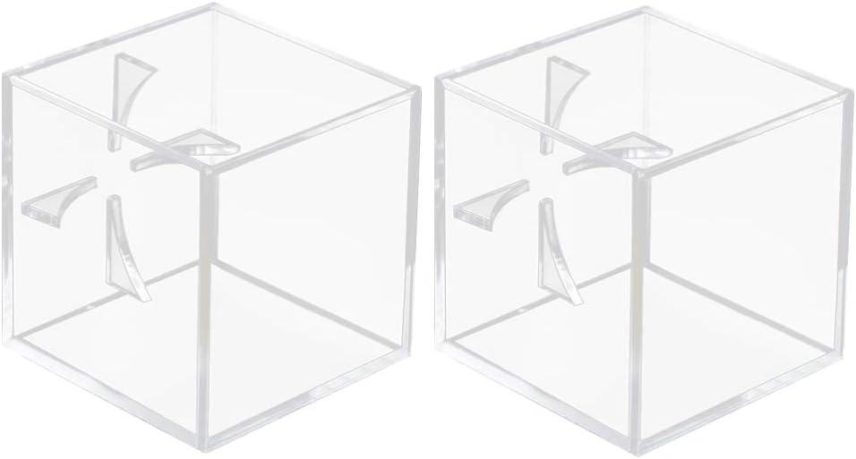 LIOOBO 2 Piezas Funda de Almacenamiento de Béisbol Práctico Soporte Transparente de Exhibición Caja de Acrílico para Pelota de Tenis Softball Pelota de Ping Pong