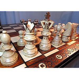 Chessebook Juego de ajedrez de Madera 52 x 52 cm 2