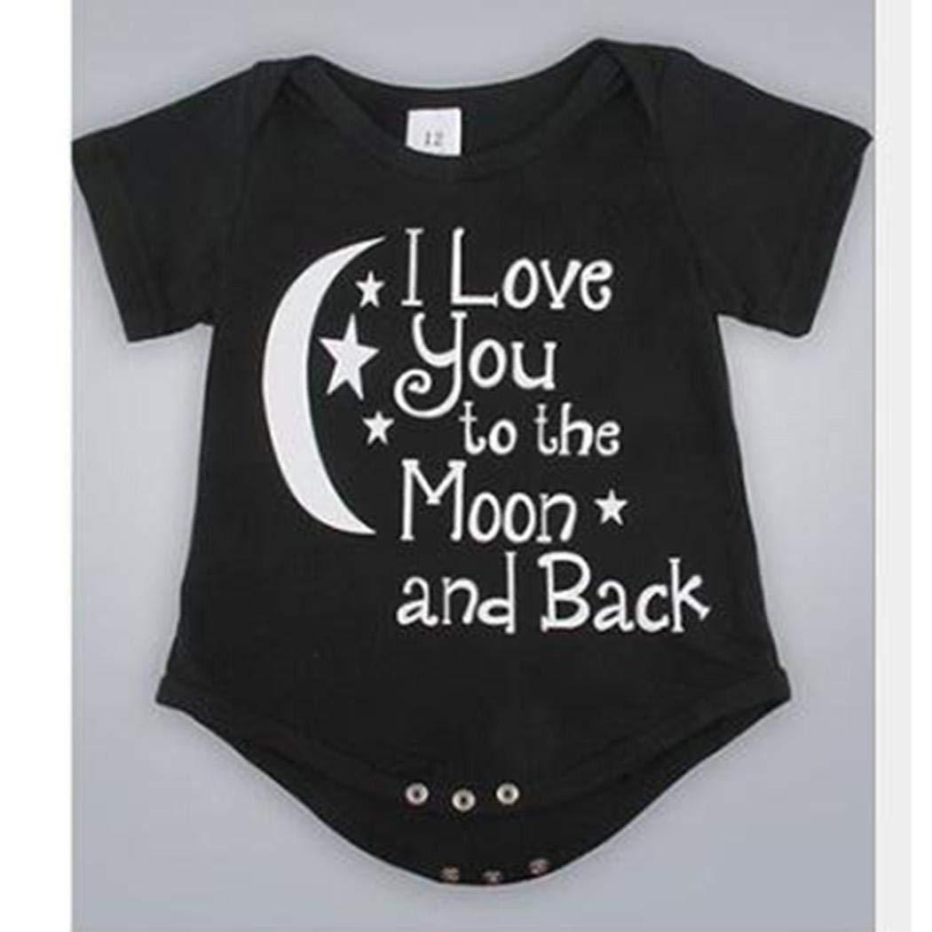 Newborn Infant Baby Boys Girls Outfits Grandpa in Heaven Letters Print Romper Jumpsuit Black