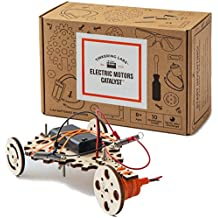 Tinkering Labs Electric Motors Catalyst STEM Kit | Intro to Engineering, Robotics, Circuit Building Projects for Kids and Teens | DIY Science Experiments Using Real Motors, Real Hardware, Real Wood