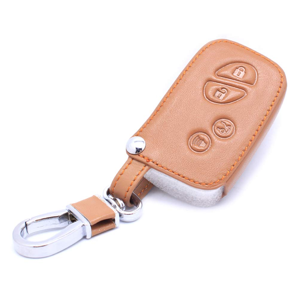 4 Button Leather Car Remote Key Fob Holder Case Cover for Lexus GX LX RX Series