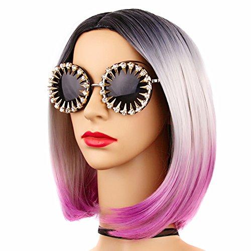 Rhinestones Solgafas Style Sunglasses Sol De Uv400 Round Steampunk Sol Hombre De Gafas Unique De Rivets para Gafas Cool Mujer para Limotai qwHCPSEx