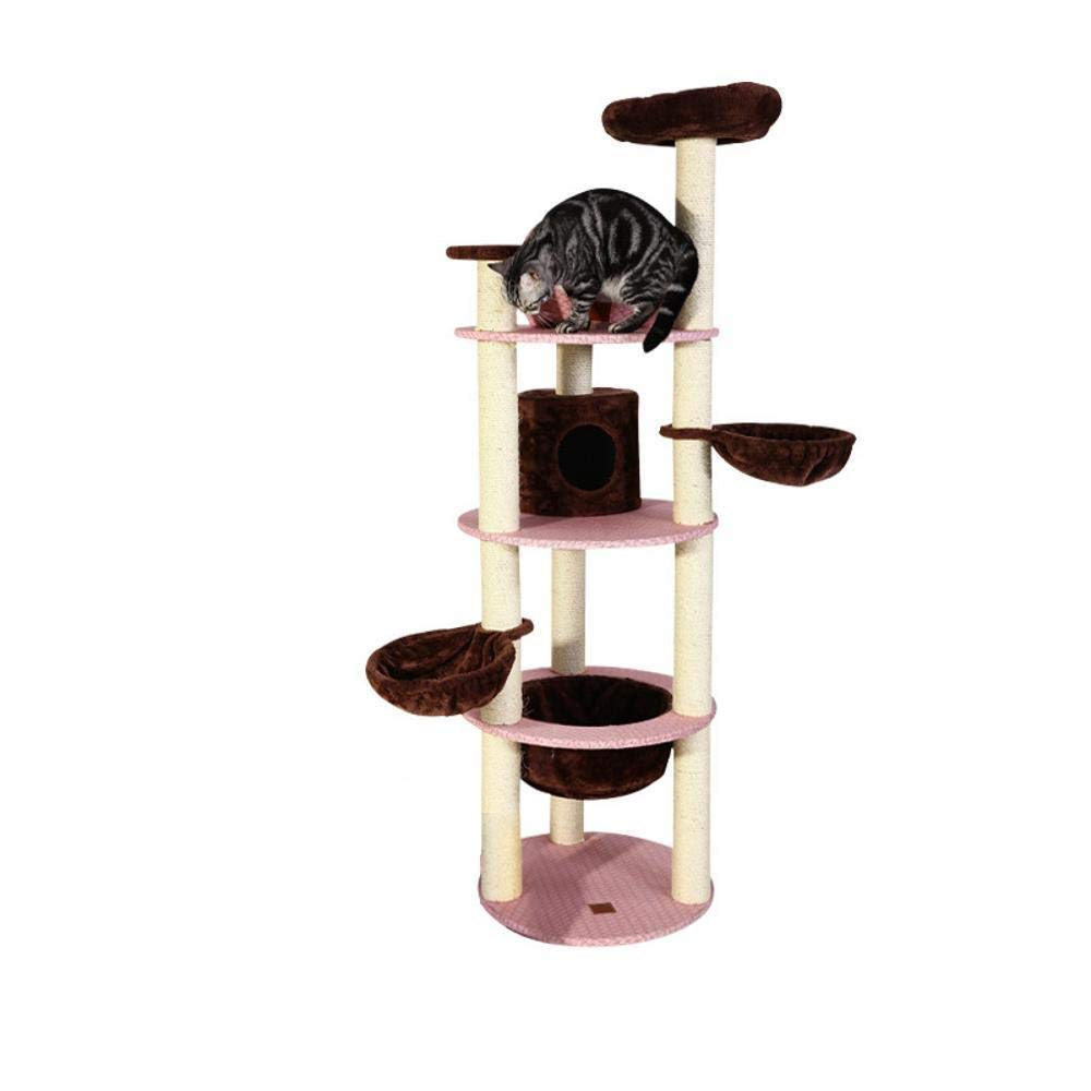 TOUYOUIOPNG Deluxe Multi Level Cat Tree cat trees towers Cat Nest Mat Pets one cat tree solid cat playground cat Scratch cat jumping toy 60  60  180cm