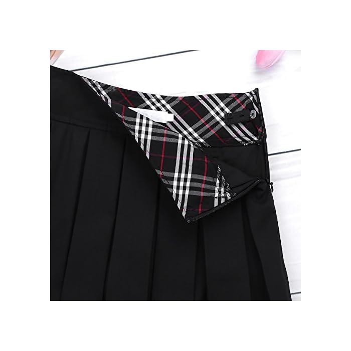 51uoO9 La falda está hecha de material de poliéster y spandex La mesa del talla bajo de la página es SÓLO PARA REFERENCIA. Verifique bien la talla y elija el tamaño adecuado según sus hábitos de vestir Poliéster y Spandex
