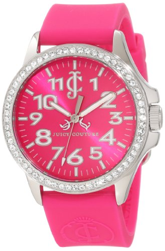 Juicy Couture Women's Pink Silicone Strap Watch - 8