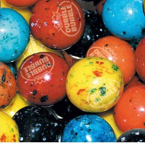 Dubble Bubble Berry Blast 24mm Gumballs 1 Inch, 2 Pounds Approximately 110 Gum Balls.