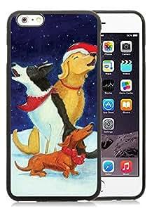Customized Portfolio iPhone 6 Plus Case,Christmas Dog Black iPhone 6 Plus 5.5 TPU Case 42