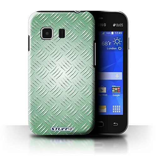 Coque de Stuff4 / Coque pour Samsung Galaxy Young 2/G130 / Vert Design / Motif en Métal en Relief Collection