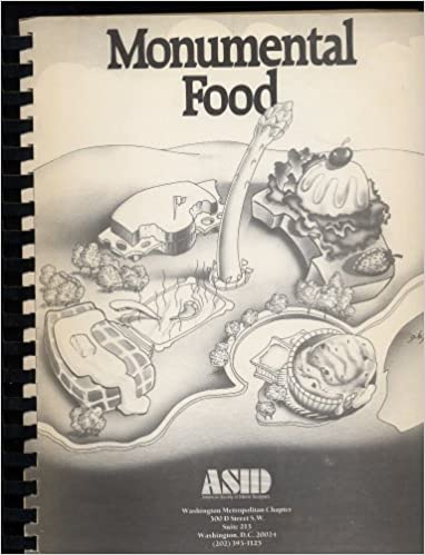 Monumental Food A Recipe Collection By The American Society Of Interior Designers Washington Metropolitan Chapter Washington Dc 1989 Spiral Plastic Comb Bound Softcover Cookbook 313 Pages 11 X 9 Inches A Unique Collection