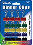 Small Binder Clips in Assorted Colors 144 pcs SKU# 1931423MA