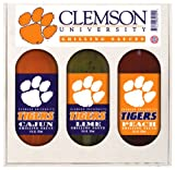 8 Pack CLEMSON Tigers Grilling Gift Set 3-12 oz