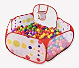 FoxPlay Basketball Ball Pit - Toddler Ball Pit Tent - Sensory Ball Pit with Basketball Hoop and Zippered Storage Bag - 4ft/120cm - Balls Not Included