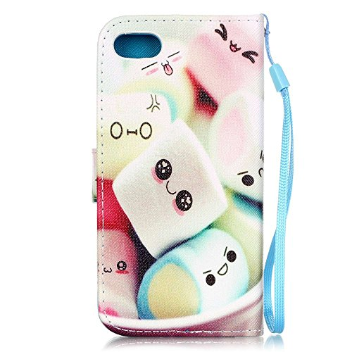 Apple iPhone 7 Sac étui Cover Case de protection en cuir synthétique Smile Multicolore decui Multicolore Housse en simili cuir