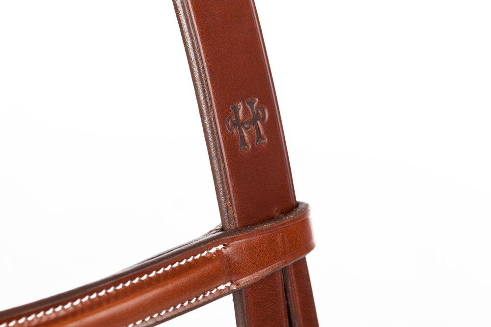Huntley Equestrian SedgwickレザーEnglish Bridle Crown Piece フル  B077KNTD25