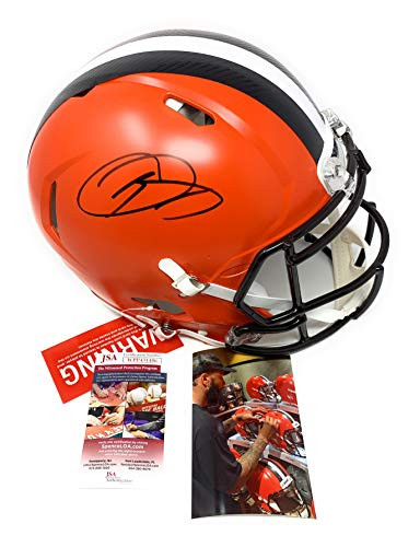 Odell Beckham Jr Cleveland Browns Signed Autograph Full Size Authentic Proline Speed Helmet JSA Witnessed Certified
