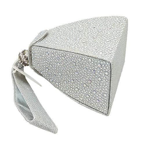 4 YHB477 pour Silver BESTWALED Beige Pochette Femme Beige TXnqzYv