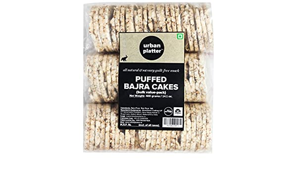 Amazon.com : Urban Platter Puffed Pearl Millet (Bajra) Cakes, 400g [All Natural and Savoury Guilt-Free Snack] : Grocery & Gourmet Food