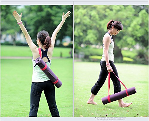 Yoga Mat Strap Sling,YAMAY Adjustable Portable Nylon Fabric Yoga Mat Carrying Strap Sling