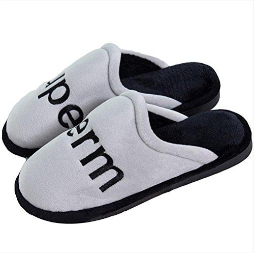 Peluches Hiver Chaussons Dérapant Pantoufles Hommes 004 Confortable WDGT pour Chauds et Femmes Slip Anti on HTSdYcqw