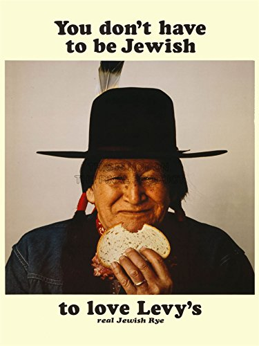 Advertising Food Levy Rye Bread Native American Jewish Art Poster Print