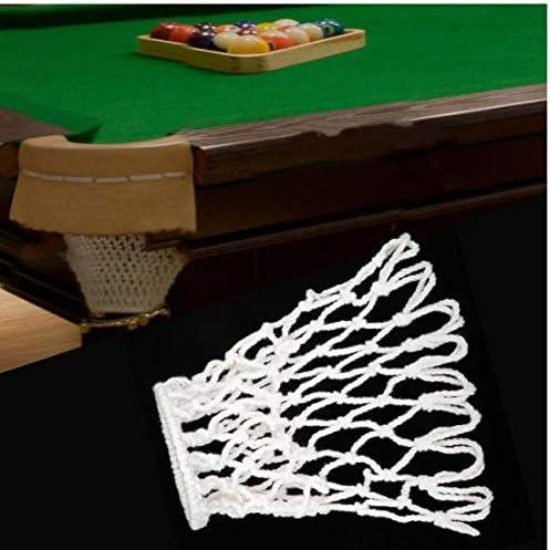 6 PCS Billar Snooker Tabla Bolsa de Red Piscina del Billar Snooker Tabla Malla de Nylon Netos Bolsas Bolsillos Club Blanco Kit: Amazon.es: Deportes y aire libre
