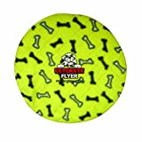 Tuffy's Ultimate Flyer Dog Toy, Yellow Bones, My Pet Supplies