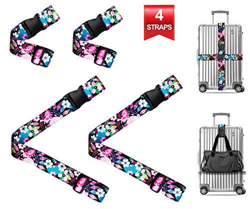 - Wild Flowers Blossom Travel Luggage Strap Suitcase Security Belt. Heavy Duty & Adjustable. Must Have Travel Accessories. TSA Compliant. 2 Luggage Straps & 2 Add A Bag Straps. 4 Piece Set.