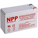NPP NP1228W FR 12V 28W(15min.Rate) 12V 7.5Ah High Rate UPS Rechargeable Sealed Lead Acid Battery F2 Terminals