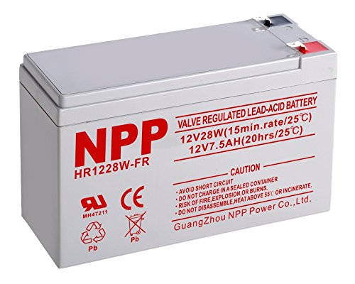 NPP 12V 7Ah 28W High Rate UPS Rechargeable Sealed Lead Acid Battery F2 Terminals