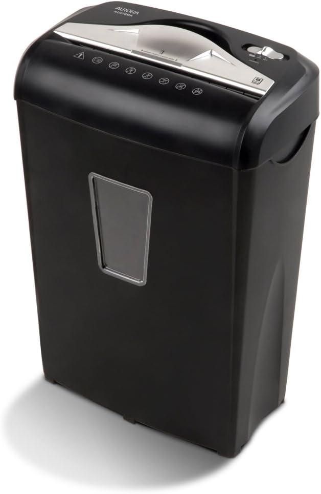 Aurora AU870MA High-Security 8-Sheet Micro-Cut Paper Credit Card Shredder Black : Electronics