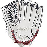 Rawlings RLA125FS-15WNS-3/0 Liberty Advanced Fastpitch Softball Glove, White/Scarlet/Navy, 12.5'