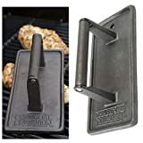 Cast Iron Grill Press BBQ Meat Barbecue Burger Bacon Grilling Tool Heavy Duty (Ship from US)